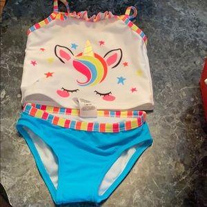 Two Piece Unicorn Tankini Swimsuit 2t